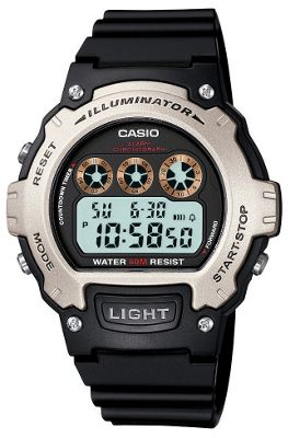 Casio Casio Collection Mens Resin Chronograph Day & Date Watch W-214H-1AVEF