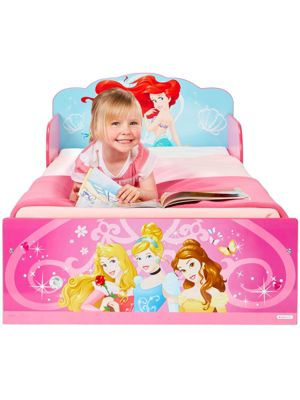 Disney Princess Toddler Bed - Pink & Foam Mattress