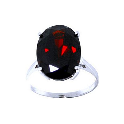 QP Jewellers 6.0ct Garnet Valiant Ring in 14K White Gold - Size G 1/2