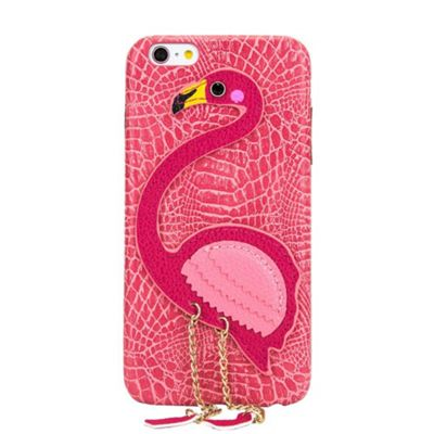 iPhone 6 Plus / 6S Plus Flamingo 3D Protective Case With Chained Legs - Pink