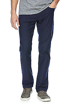 F&F Stretch Straight Leg Jeans with Belt - Navy