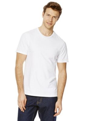 F&F Crew Neck T-Shirt with As New Technology M White