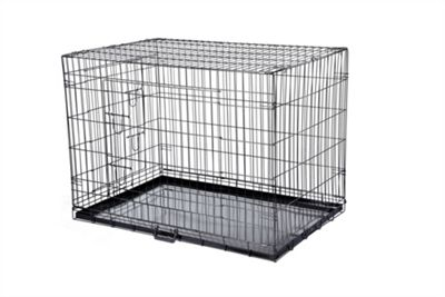 hq pet dog folding crate puppy pet carrier training cage small
