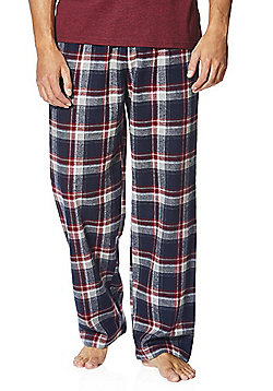 F&F Premium Checked Flannel Lounge Pants - Multi