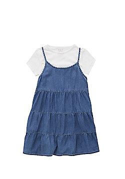 F&F T-Shirt and Cami Dress Set - Denim