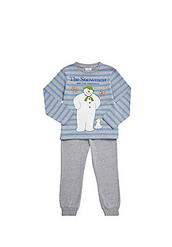 The Snowman and The Snowdog Striped Pyjamas - Blue