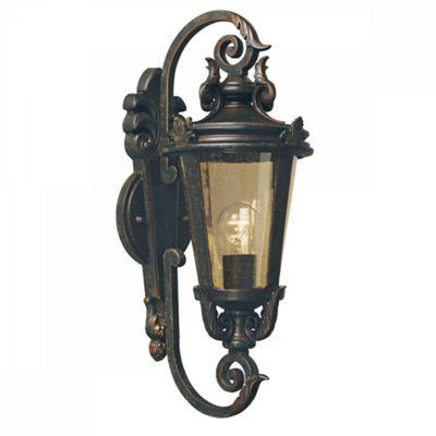 Weathered Bronze Wall Lantern Medium - 1 x 100W E27