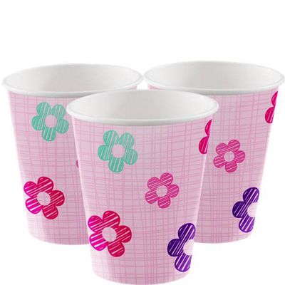 One is Fun Girl Paper Party Cups - 256ml
