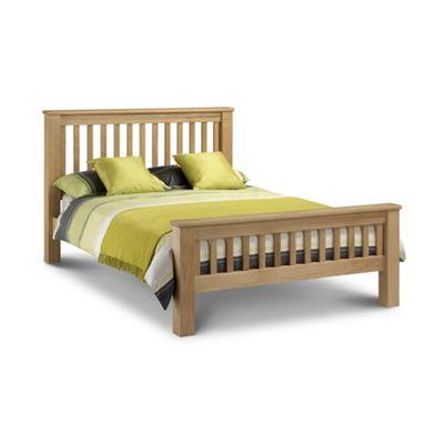Premier Oak Shaker Style Bed Frame Double High Foot End - 4ft 6