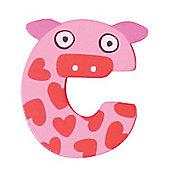 Tatiri Crazy Animals Letter C (Pink Pig)
