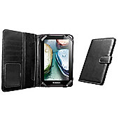 """Navitech """"Book"""" Style Black Case for the Lenovo A7-10 Android Tablet"""