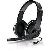 """""""SPEEDLINK Aux Stereo Headset, Black/Silver SL-8755-BKSV"""""""