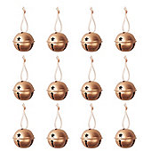 Copper Bells Christmas Decorations - Set Of Twelve