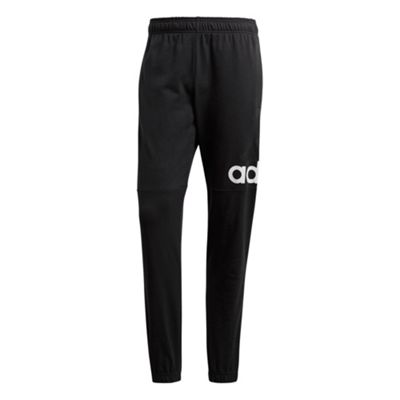 adidas Essential Logo Mens Tapered Tracksuit Pant Trouser Black/White - XXL