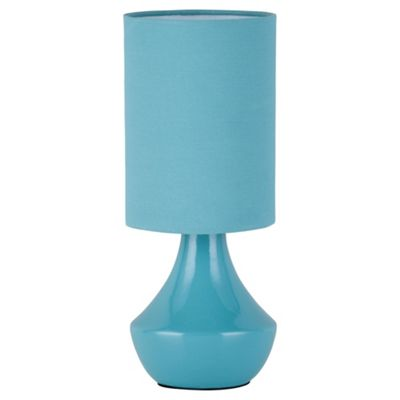 Susannah Ceramic Table Lamp, Soft Teal