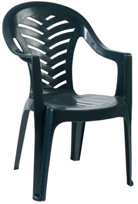 Resol Palma Garden Chair - Green - Patio Outdoor Plastic Furniture (Single)
