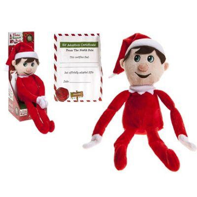 Elves Behavin' Badly - Fred The Elf - Large Red Elf Plush 10.5