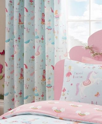 Unicorns and Rainbows Curtains 72s