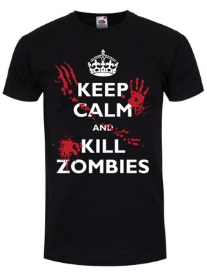 Keep Calm and Kill Zombies Men's T-shirt, Black.