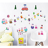 Peppa Pig Wall Stickers - Pack of 39
