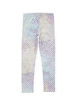 F&F Active Mermaid Foil Leggings - Silver multi