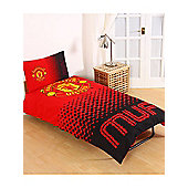 Manchester United FC Fade Single Duvet Cover and Pillowcase Set