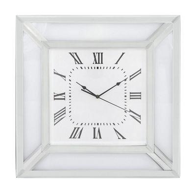 White Mirror Wall Clock