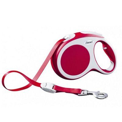 Flexi Vario L Extending Dog Lead - Red (Tape) 5m