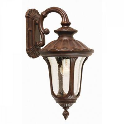 Rusty Bronze Patina Wall Down Lantern Small - 1 x 100W E27