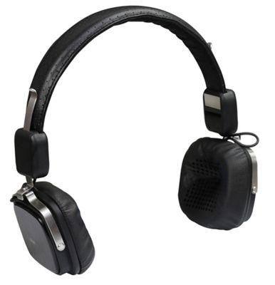 Promate Urban Premium Leather Wired Headphones - Black