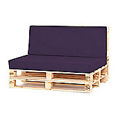 Water Resistant Pallet Large Back Cushion -Purple