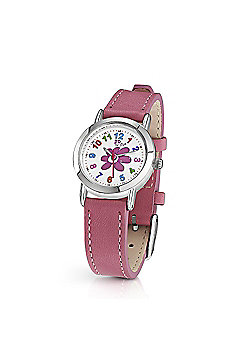 Jo For Girls Flower Dial Pink Strap Watch for Girls
