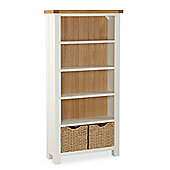 Daymer Painted Bookcase - Large Bookcase - White Painted