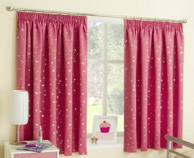 Enhanced Living Moonlight Pink Pencil Pleat Curtains - 46x54 Inches (117x137cm)