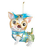 Glass Chihuahua Dog Bauble - Christmas Tree Decoration