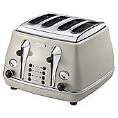 De'Longhi CTO4003.BG Icona Micalite 4 Slice Toaster - Beige