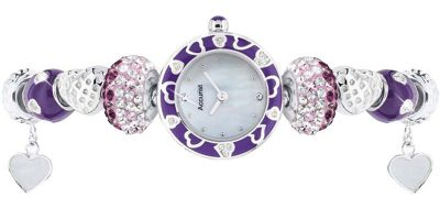 Accurist Ladies Mother of Pearl Charm Watch LB1465V