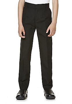 "F&F School 2 Pack of Boys Teflon EcoElite""™ 'You Buy One, We Donate One' Flat Front Slim Leg Trousers - Black"
