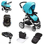 Mee-go Pramette Travel System With Isofix Base - Blue