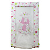 Silver Cloud Love Colour Elephant Changing Mat (Pink)