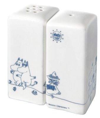Pluto Produkter Moomin Family Snufkin Salt and Pepper Set | Blue and White