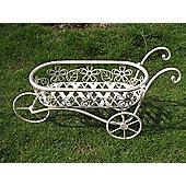 Charles Bentley Wrought Iron Decorative Wheelbarrow Planter