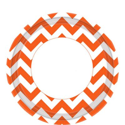 Orange Chevron Plates - 23cm Paper Party Plates