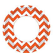 Orange Chevron Plates - 23cm Paper Party Plates