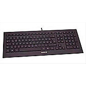 Cherry Strait Black Corded 5 HotKeys USB 1.80m Cable Keyboard