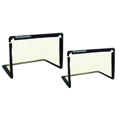 Kickmaster One-on-One Folding Goal Set Black