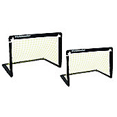Kickmaster One-on-One Folding Goal Set Black