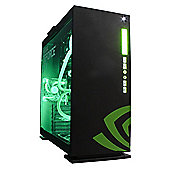 Cube Spartacus Nvidia Edition Watercooled VR Ready Gaming PC Core i7K Quad Core & Geforce GTX 1080 8Gb GPU Intel Core i7 Seagate 1Tb SSHD with 8Gb SSD