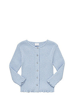 F&F Ribbed Cardigan with As New Technology - Blue