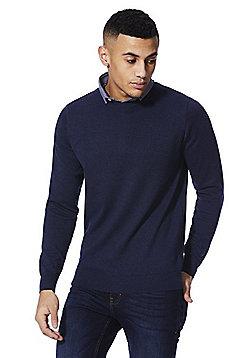 F&F 2 in 1 Shirt Collar Jumper - Navy